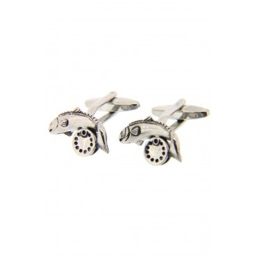 Cufflinks Soprano Ties Soprano Fish And Reel Country Cufflinks £25.00