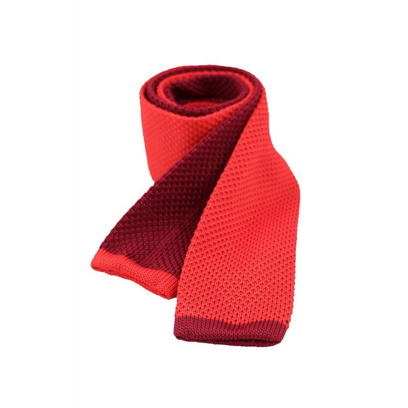 Valentines Day Gifts Soprano Ties Soprano Two Tone Red And Wine Knitted Thin Polyester Tie £27.00