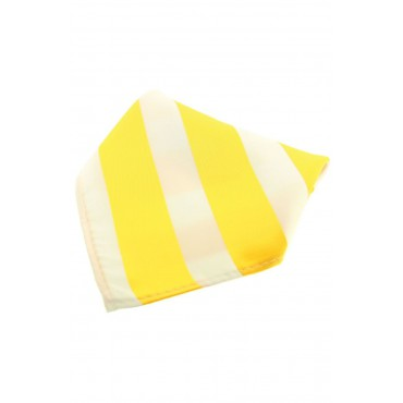 Fashion Handkerchiefs Soprano Ties Soprano Yellow And White Striped Polyester Pocket Square £14.00