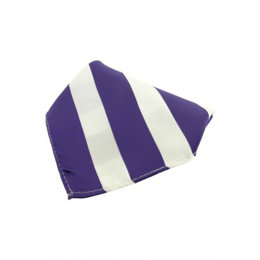 Fashion Handkerchiefs Soprano Ties Soprano Purple And White Striped Polyester Pocket Square £14.00