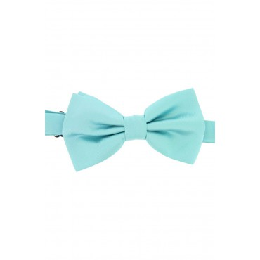 Pre Tied Wedding Bow Ties Soprano Ties Soprano Satin Silk Cyan Luxury Bow Tie £31.00
