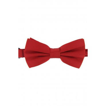 Pre Tied Wedding Bow Ties Soprano Ties Soprano Satin Silk Red Luxury Bow Tie £31.00