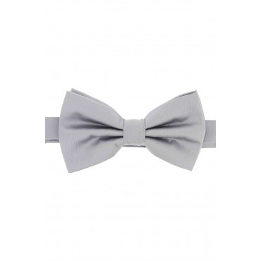 Pre Tied Wedding Bow Ties Soprano Ties Soprano Satin Silk Silver Luxury Bow Tie £31.00