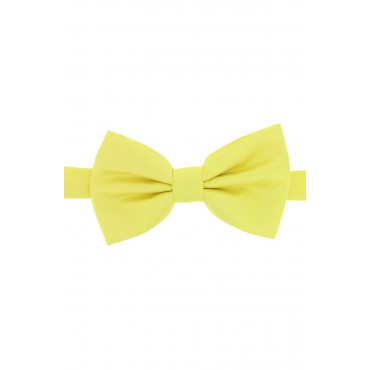 Pre Tied Wedding Bow Ties Soprano Ties Soprano Satin Silk Canary Yellow Luxury Bow Tie £31.00