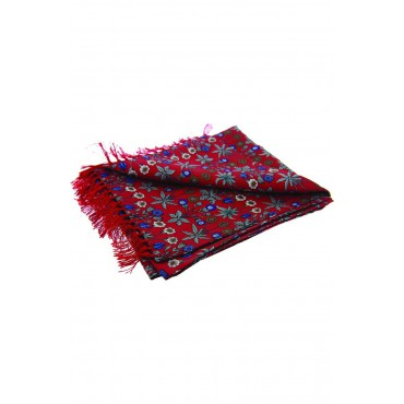 Fashion Scarves Soprano Ties Soprano Red Edwardian Inspired Flower Theme Silk Aviator Scarf £66.00