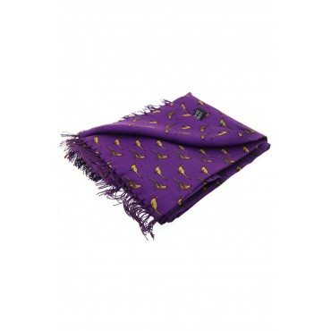 Country Scarves Soprano Ties Soprano Standing Pheasants On A Purple Ground Silk Aviator Scarf £66.00