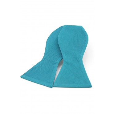 Self Tie Bow Ties Soprano Ties Soprano Satin Silk Teal Luxury Self Tied Bow Tie £20.00