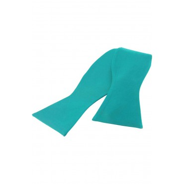 Self Tie Bow Ties Soprano Ties Soprano Satin Silk Turquoise Luxury Self Tied Bow Tie £20.00
