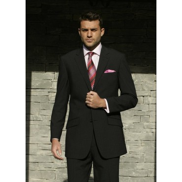 Oslo Skopes CorporateWear MM1029-Oslo-Jacket-Black-Stripe Men £102.00