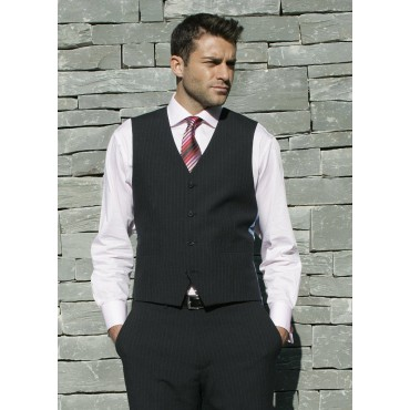 Ohio Skopes CorporateWear MM1128-Ohio-Mens-Waistcoat-Navy-Stripe Men £50.00