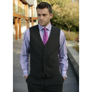 Ohio Skopes CorporateWear MM1131-Ohio-Mens-Waistcoat-Charcoal Men £50.00