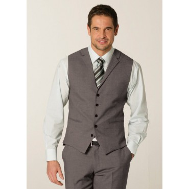 Waistcoats Skopes CorporateWear MM1226-Connaught-Mens-Waistcoat-Grey-Birdseye Men £50.00