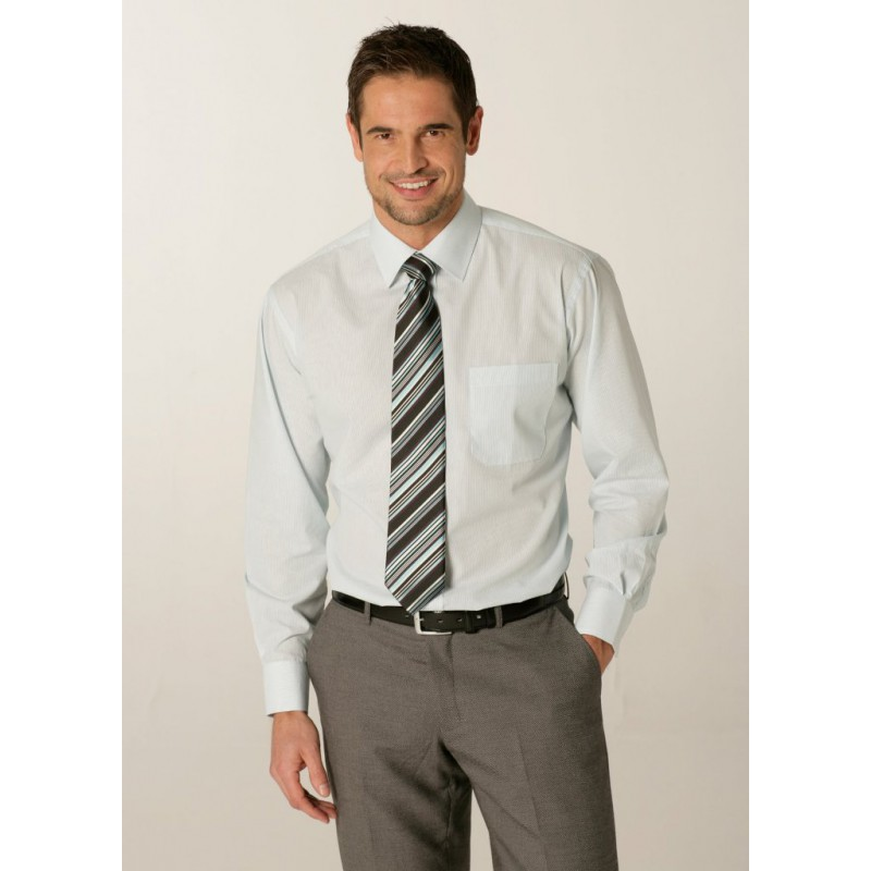 Shirts Skopes CorporateWear SS2001-London-Mens-Shirt-Aqua-Pinstripe £30.00