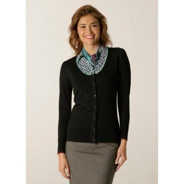 Cardigans Skopes CorporateWear SWK404-Spectrum-Ladies-Cardigan-Charcoal-Aqua-Plum Women Knitwear £50.00