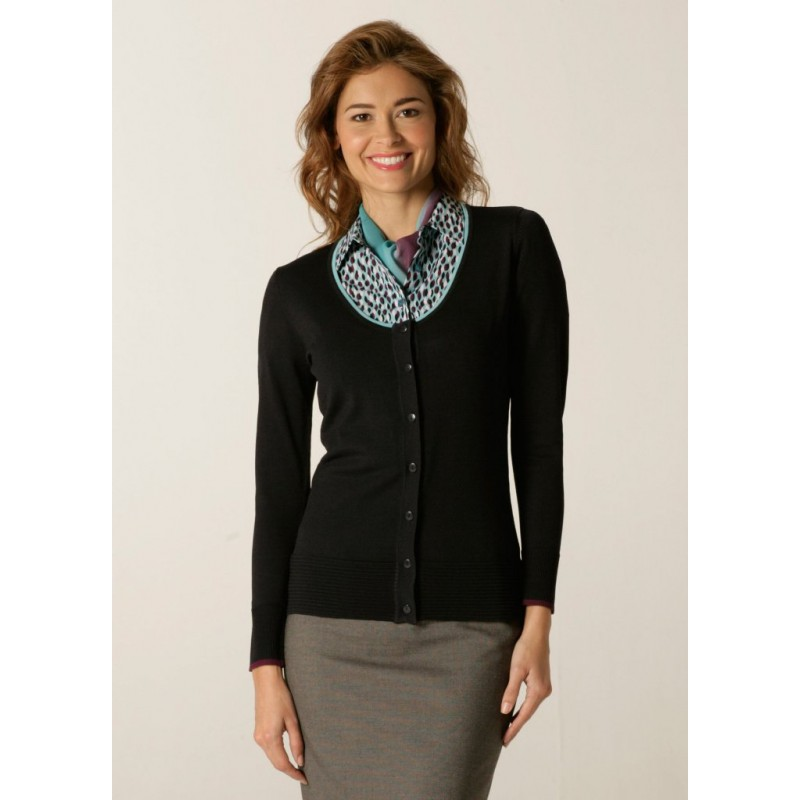 Cardigans Skopes CorporateWear SWK404-Spectrum-Ladies-Cardigan-Charcoal-Aqua-Plum Women Knitwear £50.00