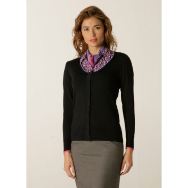 Cardigans Skopes CorporateWear SWK405-Spectrum-Ladies-Cardigan-Charcoal-Lilac-Fuchsia Women Knitwear £50.00