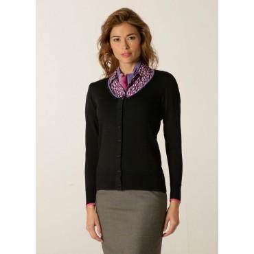 Cardigans Skopes CorporateWear SWK405-Spectrum-Ladies-Cardigan-Charcoal-Lilac-Fuchsia Women Knitwear £50.00