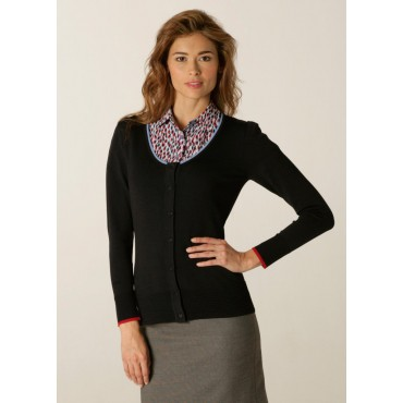 Cardigans Skopes CorporateWear SWK406-Spectrum-Ladies-Cardigan-Charcoal-Blue-Red Women Knitwear £50.00
