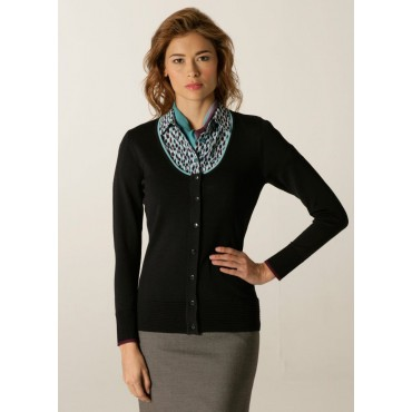 Cardigans Skopes CorporateWear SWK407-Spectrum-Ladies-Cardigan-Navy-Aqua-Plum Women Knitwear £50.00