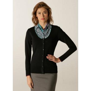 Cardigans Skopes CorporateWear SWK407-Spectrum-Ladies-Cardigan-Navy-Aqua-Plum Women Knitwear £50.00