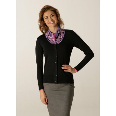 Cardigans Skopes CorporateWear SWK408-Spectrum-Ladies-Cardigan-Navy-Lilac-Fuchsia Women Knitwear £50.00