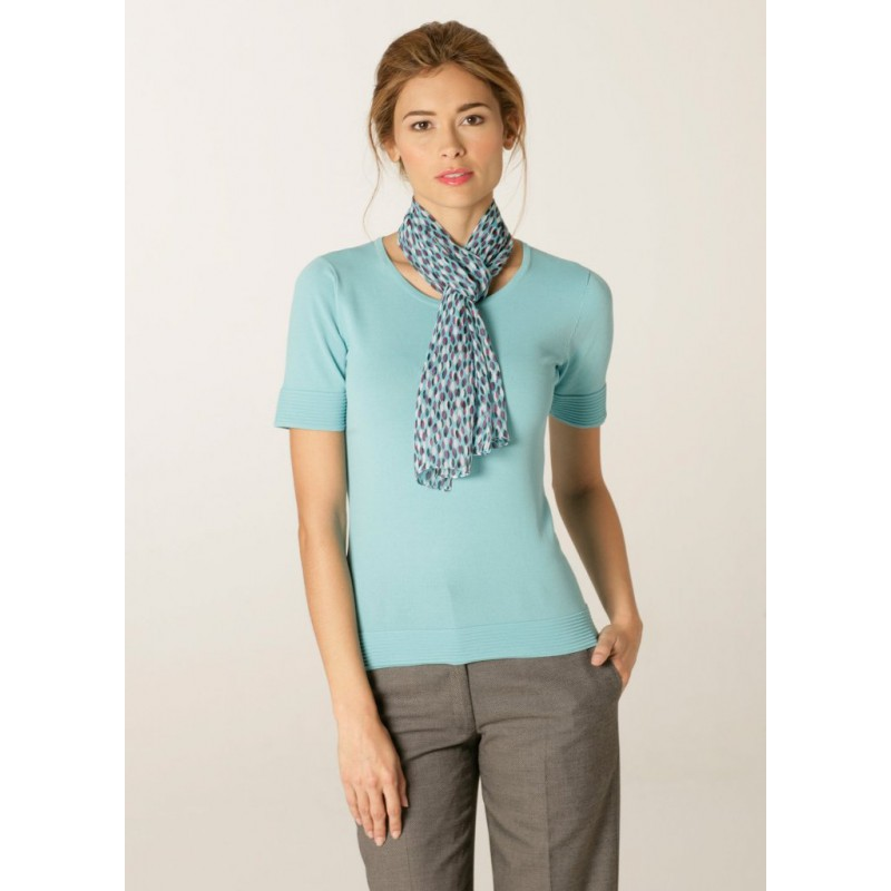 Scarves Skopes CorporateWear WA118-Petal-Scarf-Aqua-Plum Scarve Women £15.00
