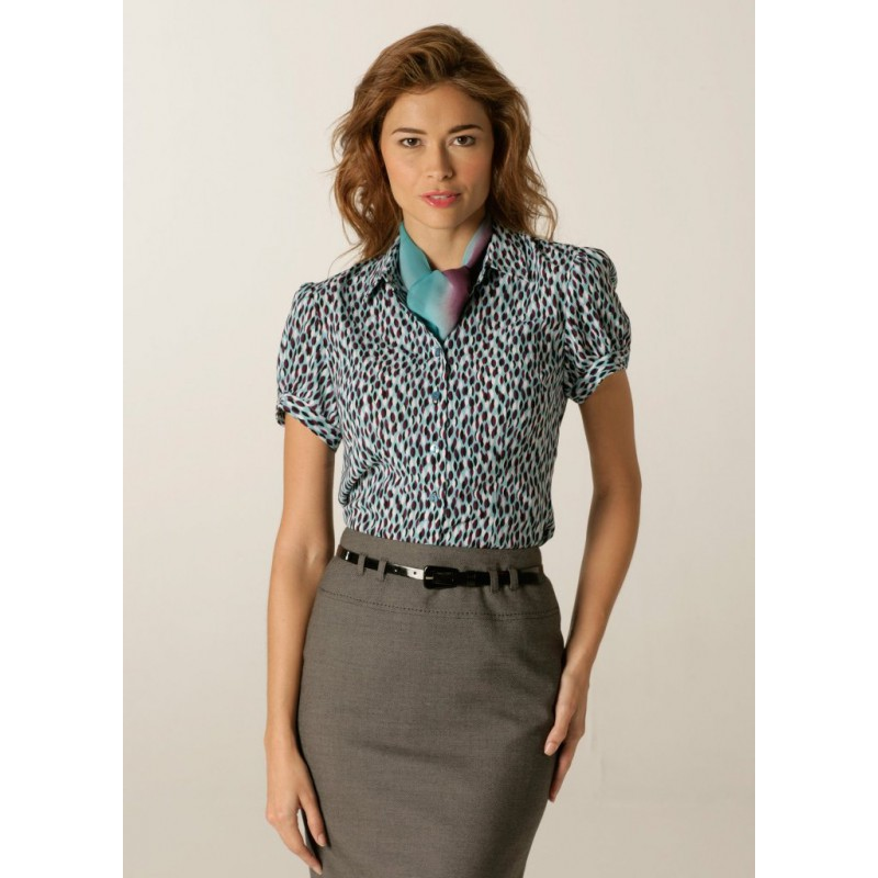 Blouses Skopes CorporateWear WWB112-Petals-Blouse-Aqua-Plum Women £30.00