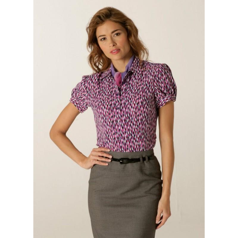 Blouses Skopes CorporateWear WWB113-Petals-Blouse-Lilac-Fuchsia Women £30.00