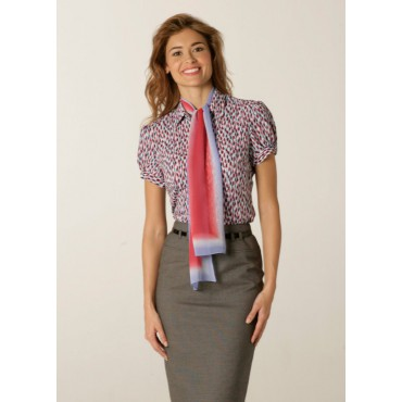 Blouses Skopes CorporateWear WWB114-Petals-Blouse-Pale-Blue-Red Women £30.00