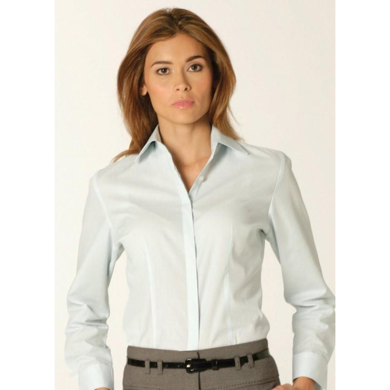 Shirts Skopes CorporateWear WWB115-London-Ladies-Shirt-Aqua-Pinstripe Women £30.00