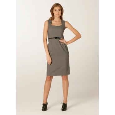 WWD603-Ritz-Shift-Dress-Grey-Birdseye Women Dresse