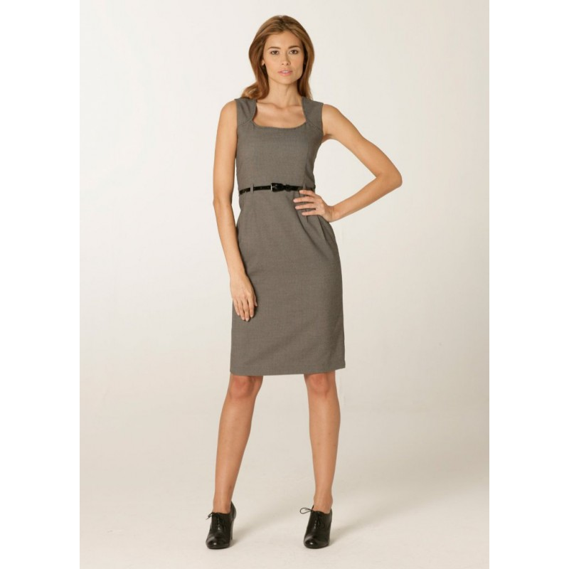 Dresses Skopes CorporateWear WWD603-Ritz-Shift-Dress-Grey-Birdseye Women Dresse £81.00