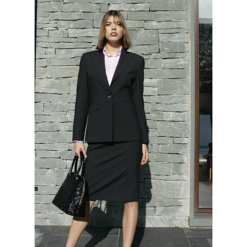 Brigitte Skopes CorporateWear WWJ262-Brigitte-Jacket-Navy-Stripe Women £80.00