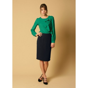 WWS331-Sylvie-Skirt-Navy Women
