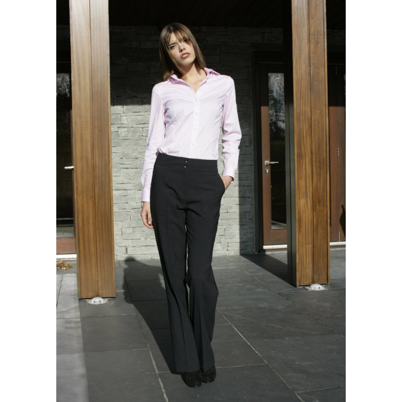 Monique Skopes CorporateWear WWT262-Monique-Trouser-Navy-Stripe Women Trousers £65.00