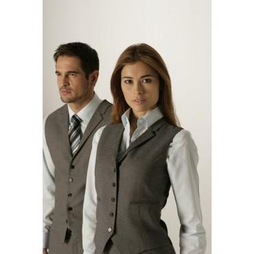 Waistcoats Skopes CorporateWear WWW903-Langham-Ladies-Waistcoat-Grey-Birdseye 24 Women £46.00