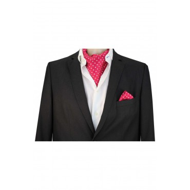 Self Tie Cravats Soprano Ties Soprano Silk Twill White Polka Dots On Fusia Ground Cravat £40.00