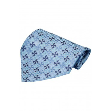 Fashion Handkerchiefs Soprano Ties Blue Windmill Design Silk Hanky £20.00