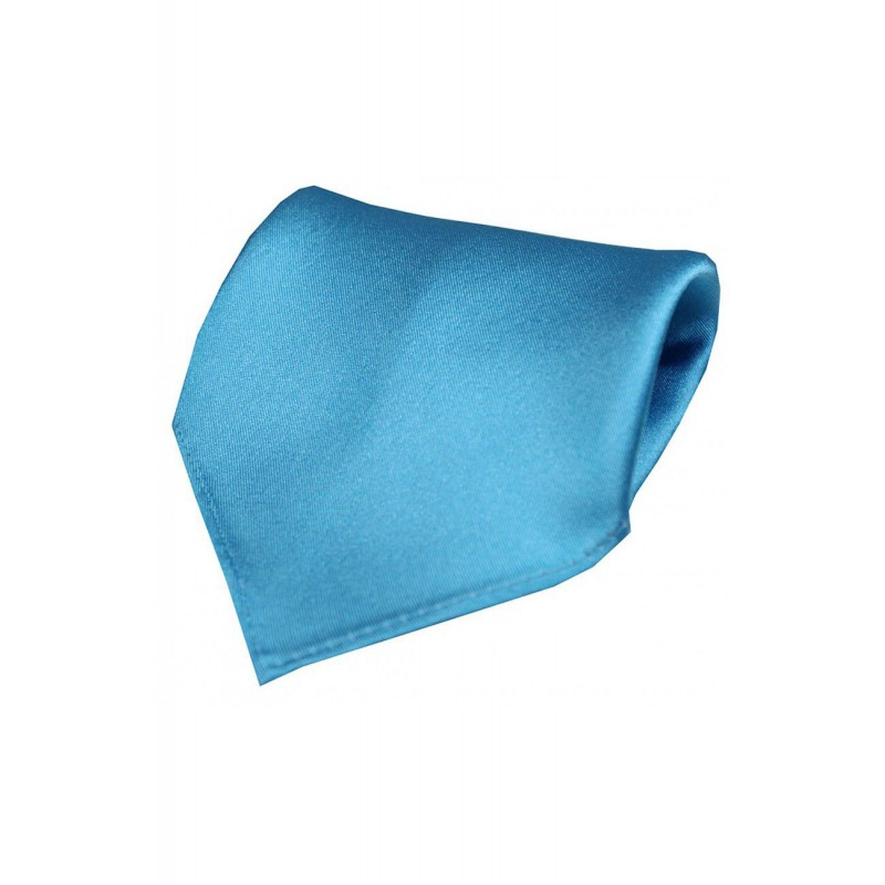 Wedding Handkerchiefs Soprano Ties Soprano Plain Turquoise Satin Silk Mens Pocket Square £20.00