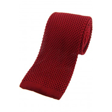 Knitted Ties Soprano Ties Soprano Red Knitted Silk Tie £29.00