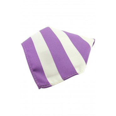 Fashion Handkerchiefs Soprano Ties Soprano Lilac And White Striped Polyester Pocket Square £14.00