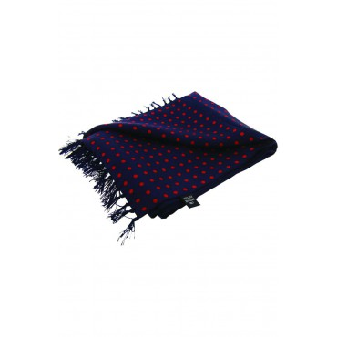 Fashion Scarves Soprano Ties Soprano Red Polka Dot On A Navy Ground Silk Aviator Scarf £60.00