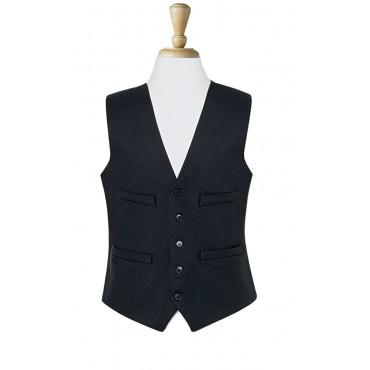 Waistcoats Brook Taverner Waistcoat-1701A-Black Formal £43.00