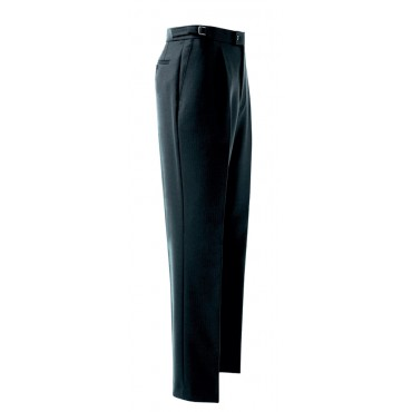 Formal-Wear Brook Taverner Herringbone-Trouser-8702A-Black Formal £71.00