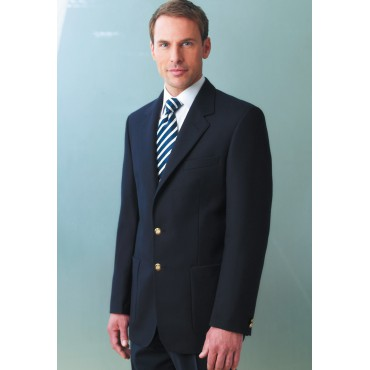 Jackets Brook Taverner Oxford Classic Fit Navy Pure Wool Patch Pocket Blazer £240.00