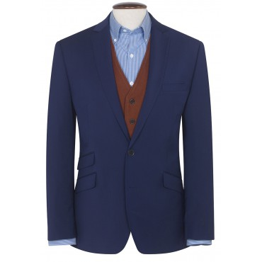 Suits Brook Taverner Cassino Blue Tailored Fit Washable Crease Resistant Suit £255.00
