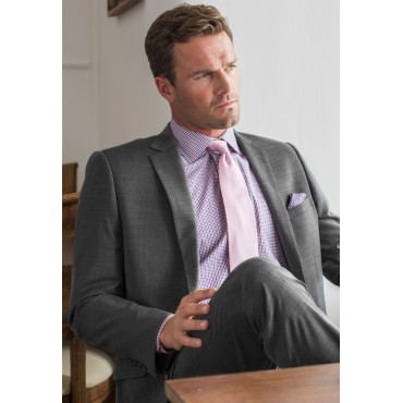 Suits Brook Taverner Cassino Grey Tailored Fit Washable Crease Resistant Suit £255.00
