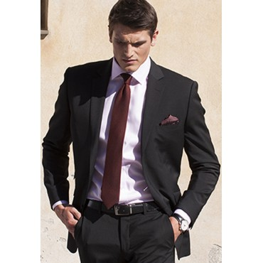 Suits Brook Taverner Cassino Black Tailored Fit Washable Crease Resistant Suit £255.00