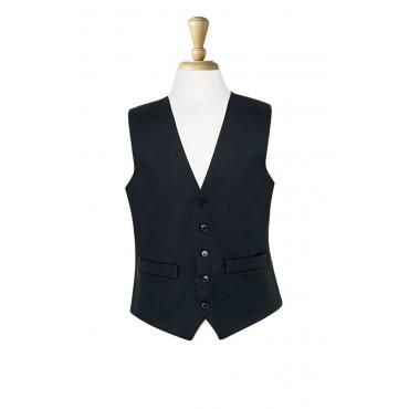 Waistcoats Brook Taverner Black-Waistcoat-1081D-Black Herringbone Formal £75.00