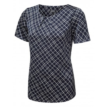 Tops Vortex Designs Gina Short Sleeve Navy £22.00